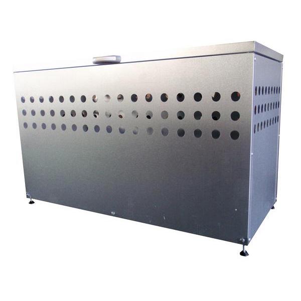 メタルテック ふた付きダストボックス 大容量300L DST-1100(W1100×D500×H665mm) ゴミ収集庫/自治体/町内会/マンション/ゴミ収集所/集積所/金属/価格/ごみ/カラス/対策/猫/ゴミストッカー