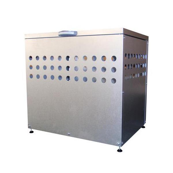 メタルテック ふた付きダストボックス 大容量200L DST- 700(W700×D500×H665mm) ゴミ収集庫/自治体/町内会/マンション/ゴミ収集所/集積所/金属/価格/ごみ/カラス/対策/猫/ゴミストッカー
