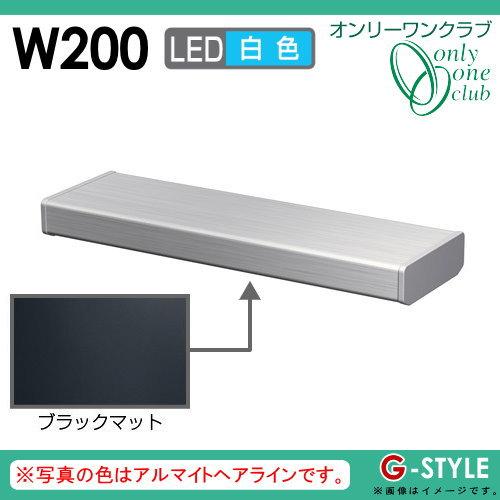 オンリーワンエクステリア 照明 ポーチライト 【シンライト プレーンタイプ W200 白色 ブラックマット(BM)】 Thin Light