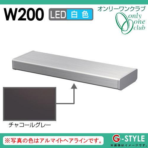 オンリーワンエクステリア 照明 ポーチライト 【シンライト プレーンタイプ W200 白色 チャコールグレー(CG)】 Thin Light