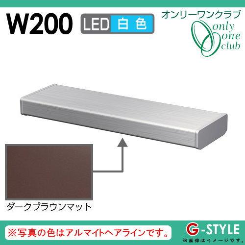 オンリーワンエクステリア 照明 ポーチライト 【シンライト プレーンタイプ W200 白色 ダークブラウンマット(DM)】 Thin Light