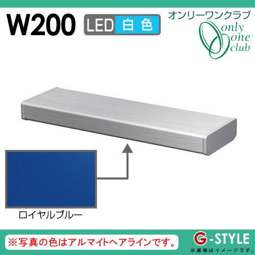 オンリーワンエクステリア 照明 ポーチライト 【シンライト プレーンタイプ W200 白色 ロイヤルブルー(YB)】 Thin Light