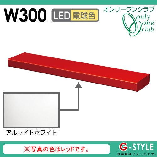 オンリーワンエクステリア 照明 ポーチライト 【シンライト プレーンタイプ W300 電球色 アルマイトホワイト(AI)】 Thin Light