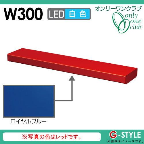 オンリーワンエクステリア 照明 ポーチライト 【シンライト プレーンタイプ W300 白色 ロイヤルブルー(YB)】 Thin Light