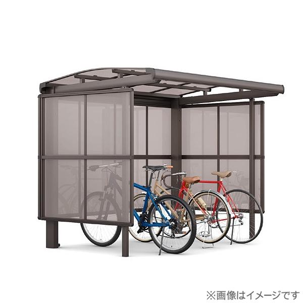 【フーゴAパーク 基本 22-21型 屋根:熱線遮断FRP板DRタイプ サイドパネル:通常ポリカ パネル高さ H1600】 自転車 置場 バイク置き場