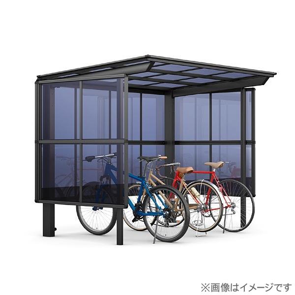 【フーゴFパーク 基本 29-21型 屋根:熱線遮断FRP板DRタイプ サイドパネル:通常ポリカ パネル高さ H1600】 自転車 置場 バイク置き場