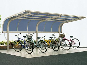 YKKAP サイクルキャップ 積雪~20cm対応 サイクルポート・駐輪場 【現場打ち合わせ無料・全国工事対応・送料無料】