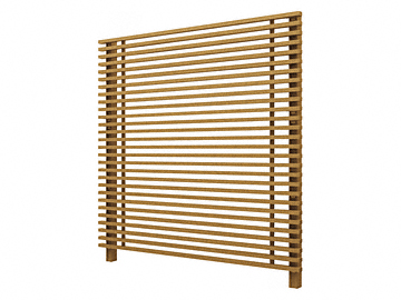 YKKAP ルシアス スクリーンフェンスS01型 木調色 【現場打ち合わせ無料・全国工事対応・3枚以上ご注文で送料無料】