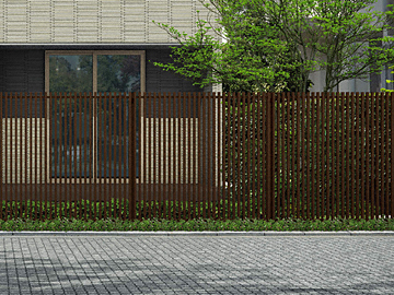 YKKAP ルシアス スクリーンフェンスS02型 木調色 【現場打ち合わせ無料・全国工事対応・3枚以上ご注文で送料無料】