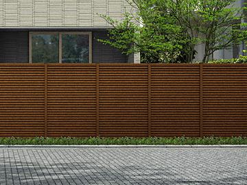 YKKAP ルシアス スクリーンフェンスR02型 木調色 【現場打ち合わせ無料・全国工事対応・3枚以上ご注文で送料無料】