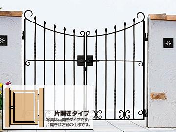 YKKAP トラディシオン門扉4型 片開き ゲート・門扉【現場打ち合わせ無料・全国工事対応】