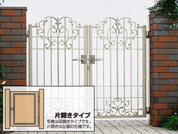 YKKAP オルニス門扉 2型 片開き ゲート・門扉【現場打ち合わせ無料・全国工事対応】