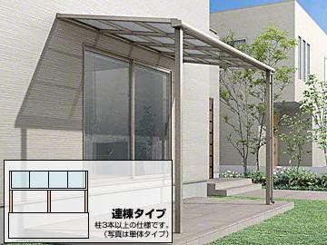 LIXIL スピーネ F型 積雪100cm対応 テラスタイプ 連棟 テラス屋根 【現場打ち合わせ無料・全国工事対応・送料無料】