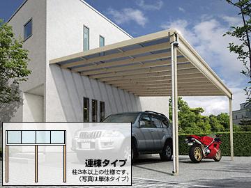 YKKAP ヴェクターテラス F型 ビッグサイズ 連棟 テラス屋根 【現場打ち合わせ無料・全国工事対応・送料無料】