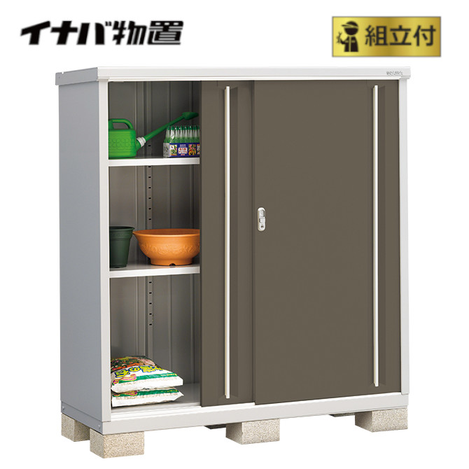 イナバ物置 シンプリー MJX-156D (P) 【 標準組立付 】 稲葉 物置き タイヤ収納 収納庫