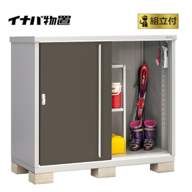 イナバ物置 シンプリー MJX-157C (P) 【 標準組立付 】 稲葉製作所 物置き タイヤ収納 収納庫 ガーデン収納庫