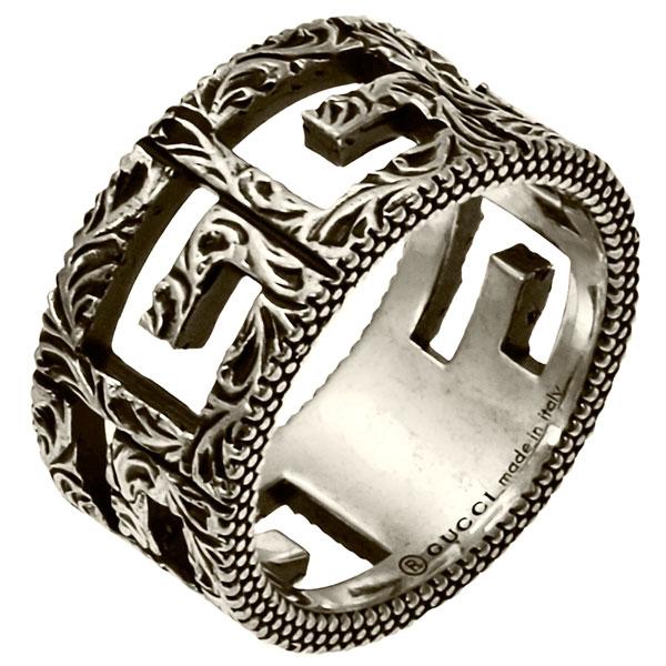グッチ GUCCI リング 指輪 アクセサリー スクエアG シルバー メンズ レディース 551918 J8400 0811