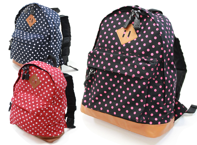 exas | Rakuten Global Market: Canvas dot pattern kids rucksack