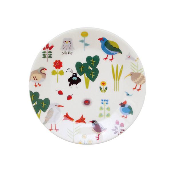 大人気KOTORITACHIブランドの陶器シリーズです KOTORITACHI プチケーキ皿 年中無休 地面の鳥 小鳥グッズ 小鳥雑貨 キッチン用品 食器 お皿 小皿 コトリタチ 陶器 ギフト 国産 プレート 丸皿