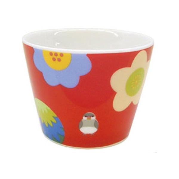 大人気KOTORITACHI陶器シリーズのフリーカップです KOTORITACHI フリーカップ お花見文鳥 小鳥グッズ 小鳥雑貨 5%OFF キッチン用品 食器 国産 桜文鳥 マグ 陶器 カップ コップ 驚きの値段で 白文鳥