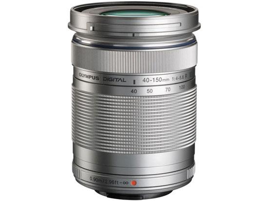 【中古】M.ZUIKO DIGITAL ED 40-150mm F4.0-5.6 R 銀 欠品あり 未使用