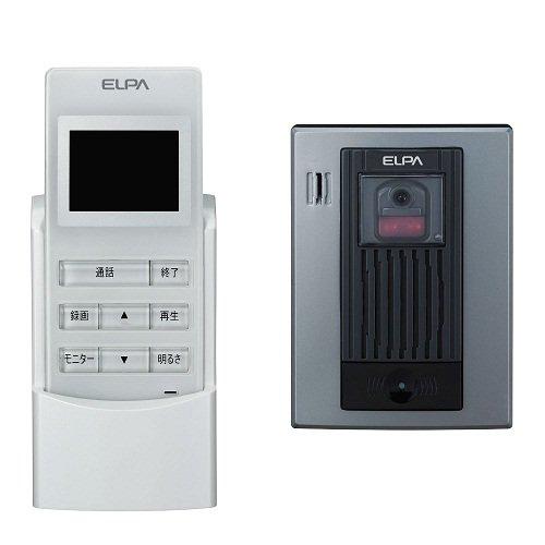 【新品訳あり(箱きず・やぶれ)】 ELPA ワイヤレステレビドアホン WDP-100