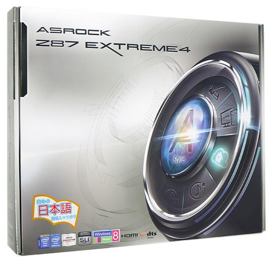 【中古】ASRock製 ATXマザーボード Z87 Extreme4 LGA1150 元箱あり