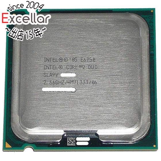 Core 2 Duo E6750 バルク 【中古】Core 2 Duo E6750 2.66GHz FSB1333MHz LGA775 4MB SLA9V