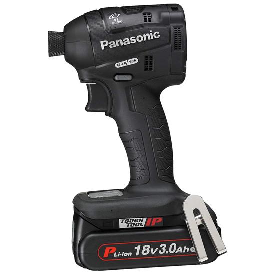 【中古】Panasonic 充電式インパクトドライバー EZ75A7PN2G-B 黒 未使用