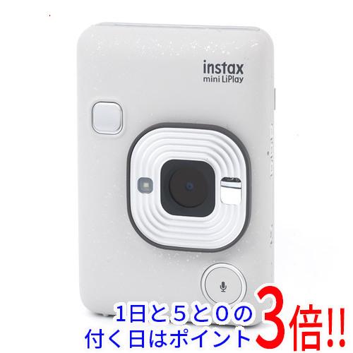 【キャッシュレスで5%還元】【新品訳あり(箱きず・やぶれ)】 FUJIFILM ハイブリッドインスタントカメラ instax mini LiPlay チェキ ストーンホワイト