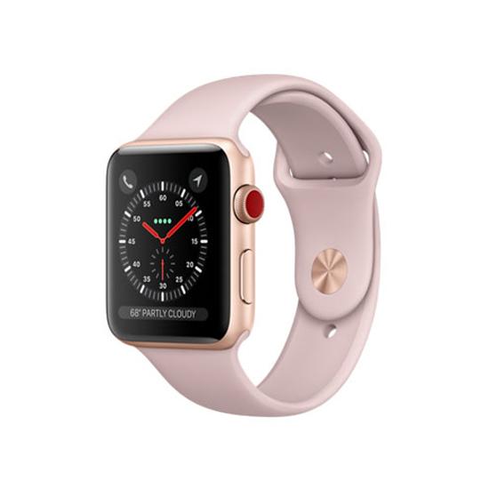 【キャッシュレスで5%還元】APPLE Apple Watch Series 3 GPS+Cellularモデル 42mm MQKP2J/A ピンクサンドスポーツバンド
