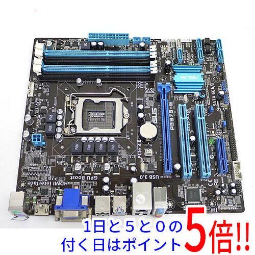 【中古】ASUS製 MicroATXマザーボード P8B75-M LGA1155