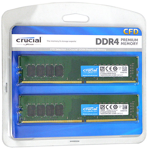 crucial W4U2400CM-16G DDR4 PC4-19200 16GB 2枚組