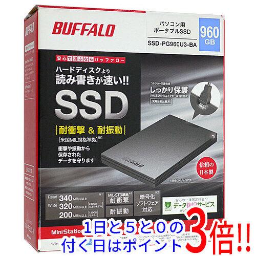 BUFFALO 外付けSSD SSD-PG960U3-BA 960GB ブラック