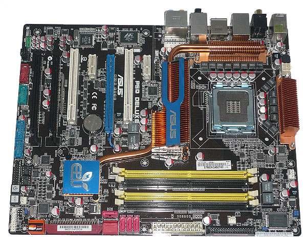 【中古】ASUS製 ATXマザーボード P5Q Deluxe LGA775対応