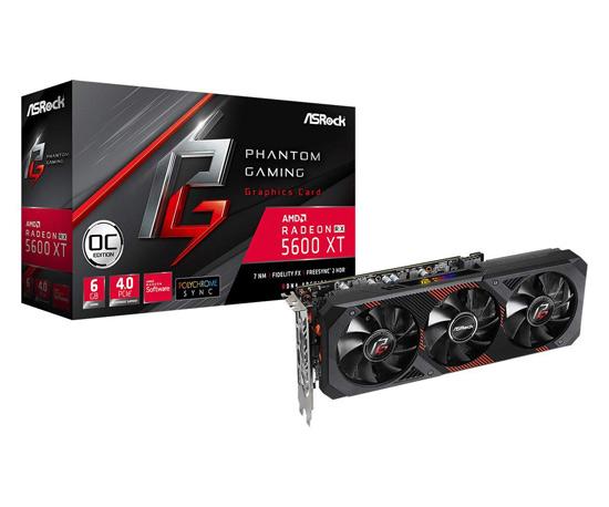 【キャッシュレスで5%還元】ASRock製グラボ Radeon RX 5600 XT Phantom Gaming D3 6G OC PCIExp 6GB