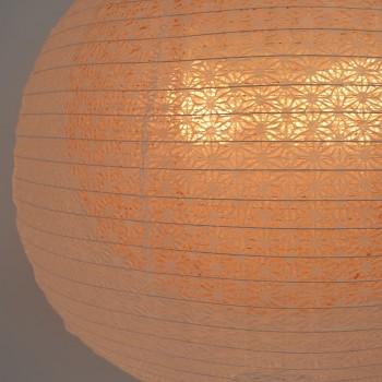 二重提灯 SLP-1102 bud麻葉煉瓦in春雨白交換用和紙シェード