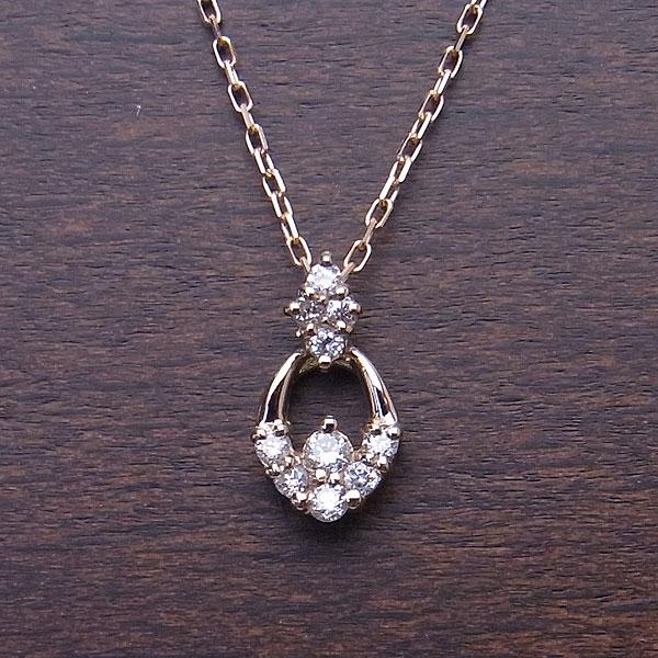 K18 PG ネックレス ダイヤモンド 0.1ct D360KP18 エクセルワールド プレゼントにも おしゃれ アクセサリー