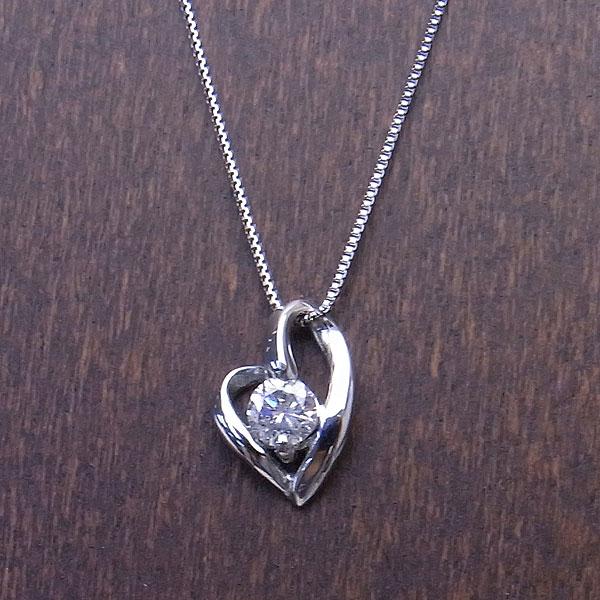 PT ネックレス オープンハート ダイヤモンド 0.15ct DTP5524P エクセルワールド プレゼントにも おしゃれ アクセサリー