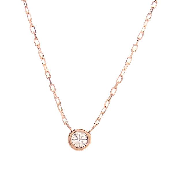 K10 PG ネックレス ダイヤモンド 0.05ct 515690 エクセルワールド プレゼントにも おしゃれ アクセサリー
