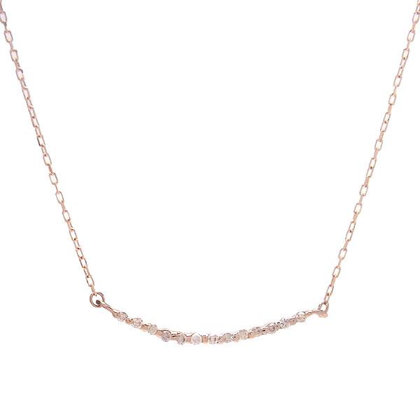 K10 PG ネックレス ダイヤモンド K10PGPD50919 エクセルワールド プレゼントにも おしゃれ アクセサリー