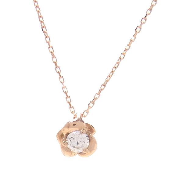 K10 PG ネックレス ダイヤモンド H&C 0.07ct LX00268 エクセルワールド プレゼントにも おしゃれ アクセサリー