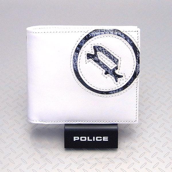 POLICE ポリス メンズ 二つ折り財布 小銭入れ付き イーブン ホワイト エクセルワールド プレゼントにも ウォレット 財布 TP zq