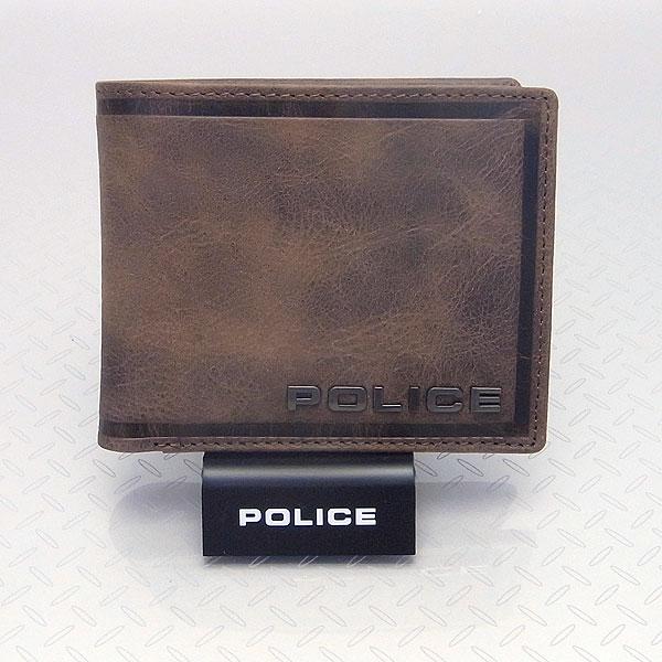 POLICE ポリス メンズ 二つ折り財布 EDGE エッジ ブラウン PA-58000-29 決算セール商品