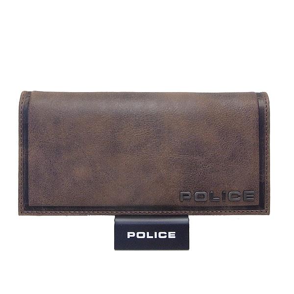 POLICE ポリス メンズ 長財布 EDGE エッジ ブラウン 決算セール商品