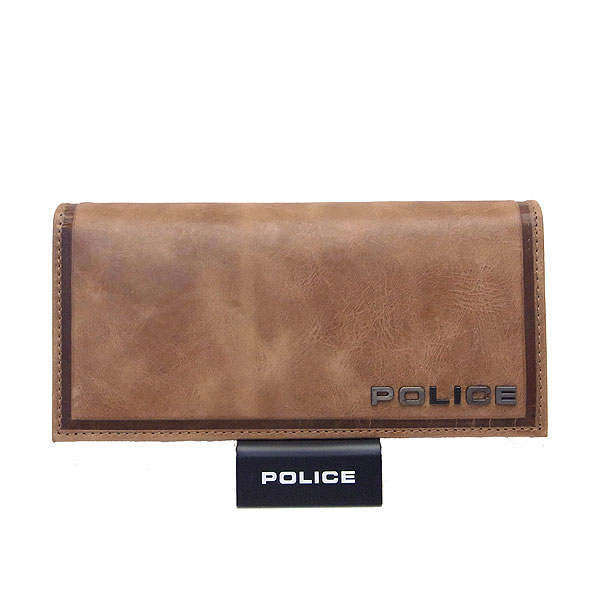 POLICE ポリス メンズ 長財布 EDGE エッジ ライトブラウン エクセルワールド プレゼントにも ウォレット 財布 TP zq