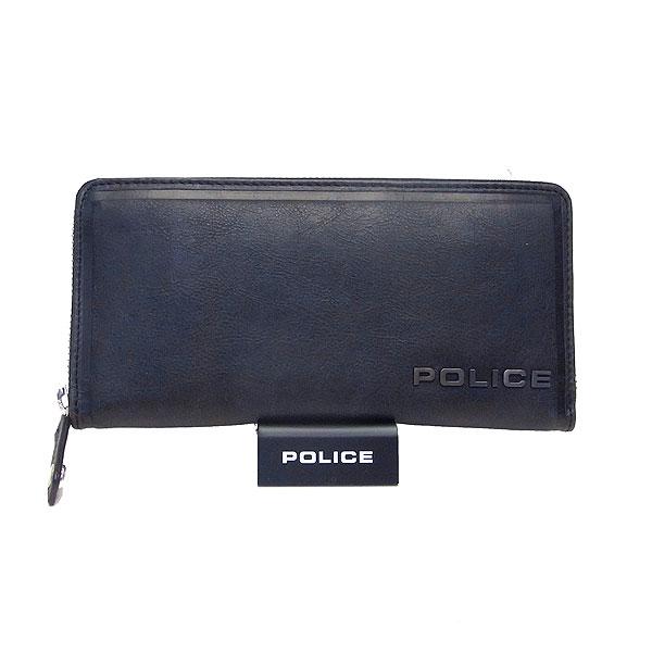 ポリス メンズ 長財布 ラウンドジップ POLICE EDGE エッジ ブラック PA-58002-10 決算セール商品