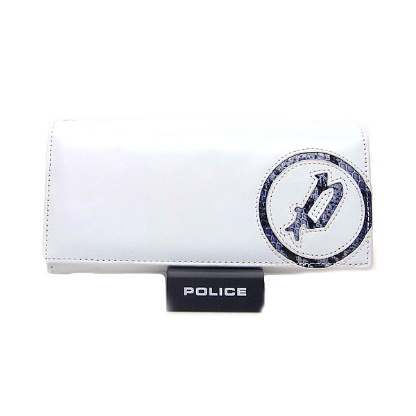 POLICE ポリス メンズ 長財布 小銭入れ付き イーブン ホワイト エクセルワールド プレゼントにも ウォレット 財布 TP