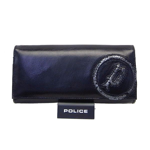 POLICE ポリス メンズ 長財布 小銭入れ付き イーブン ブラック エクセルワールド プレゼントにも ウォレット 財布 TP