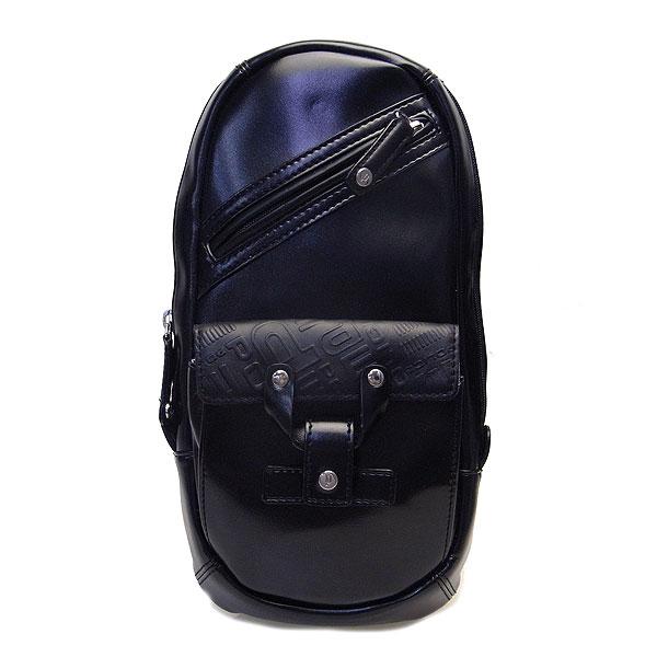 POLICE ポリス メンズ バッグ DELIGHT ボディーバッグ ショルダーバッグ 牛革 PAー56310ー10 ブラック SS 決算セール商品